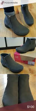 womens boots that feel like sneakers dansko charcoal gray ankle boots bootie 40 euc dansko shoes