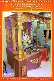 Home Ganpati Decoration Sandeep Patel Home Ganpati Picture 2013 View More Pictures And