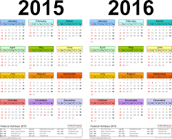 8 best images of 2015 2016 printable calendar with holidays