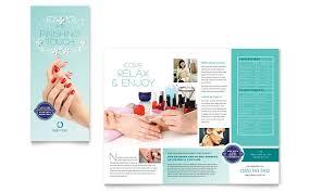 nail technician brochure template word u0026 publisher
