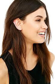 ear climber earring lyst outfitters delicate bar ear climber cuff earring in