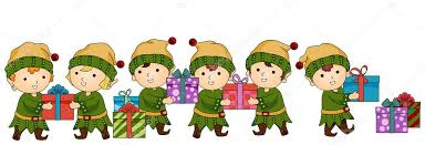 christmas elves christmas elves working stock photo lenmdp 7734007