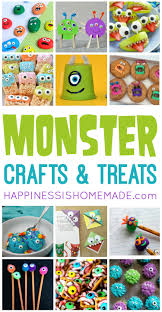 Halloween Monsters For Kids by 20 Easy Monster Treats And Crafts For Kids Happiness Is Homemade