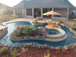 Backyard Pool With Lazy River Pools Gallery Robertson Pools Inc Coppell Tx 972 393 2152