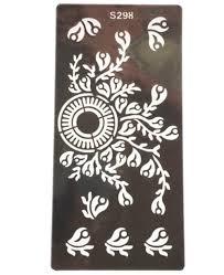 2 stücke blume tattoo vorlagen hände füße henna tattoo schablonen