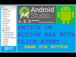 8 how to add a switch in android action bar android studio new
