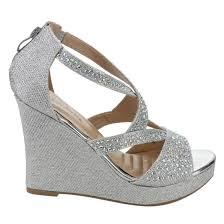 Rhinestone Sandal Heels Women U0027s Rhinestone Strap Platform Wedge Sandal Heel Half Size Big