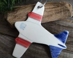 airplane ornament etsy
