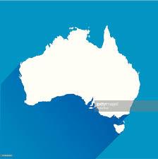 Austrailia Map Blue Australia Map Icon Vector Art Getty Images