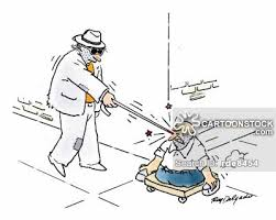 Blind Man Cane White Cane Cartoons And Comics Funny Pictures From Cartoonstock