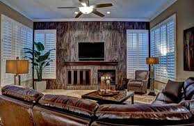 Window Treatment Ideas For Your Family Room Sunburst Shutters - Family room window treatments