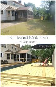 backyard makeover 1 year later simply swider