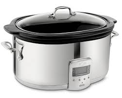 crockpot black friday sale all clad slow cooker with black ceramic insert 6 1 2 qt