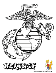 armed forces emblem coloring pages of marine corp emblem at