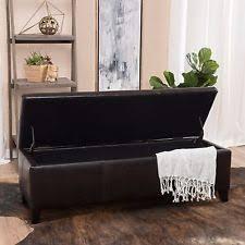 storage ottoman bench brown storage ottoman bench ebay