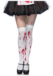 bloodied thigh high stockings zombie nurse accessory