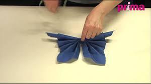 Serviette En Papier Fleur by Pliage De Serviette Original Papillon Art De La Table Maison