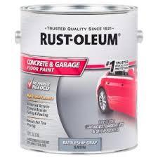 rust oleum 1 gal battleship gray satin concrete floor paint 2