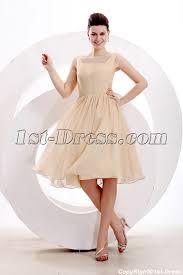 simple champagne short prom dress for junior 1st dress com