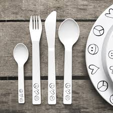peace out kids melamine cutlery set love frankie