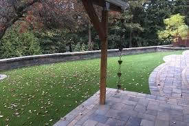 Patio Artificial Grass Artificial Grass Retaining Wall And Paving Stone Patio U2013 Expert