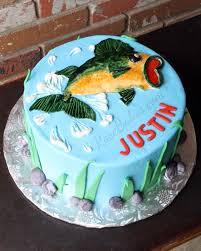 bass fishing cake rose bakes