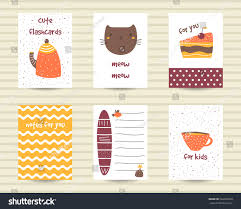 cute note pages do list flashcards stock vector 526397920