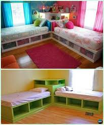 diy kids bunk bed free plans corner beds corner unit and bed