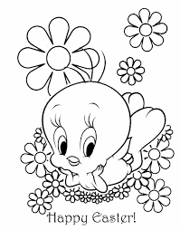 easter colouring tweety pie easter coloring sheet