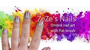 zeze u0027s nails ombré nail art with fan brush hd youtube