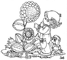 spring coloring pages nature with baby girls free printable