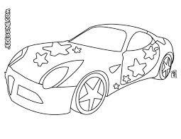 coloriages coloriage d u0027une voiture de star fr hellokids com