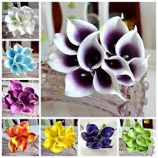 calla colors 2018 vintage artificial flowers mini purple in white calla