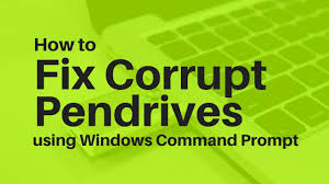 fix corrupt pendrives using windows command prompt only youtube