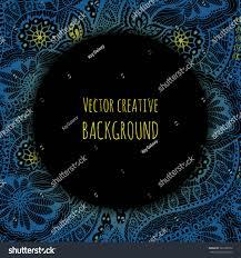 Black Invitation Card Vector Card Template Fantasy Creative Background Stock Vector