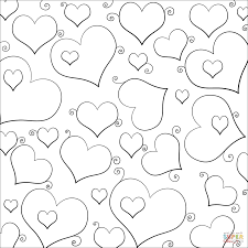 lots of hearts coloring page free printable coloring pages