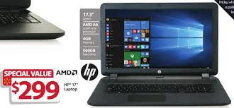 black friday hp laptop hp black 17 3 u2033 17 p121wm laptop amd a6 6310 cpu 4gb ram 500gb