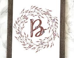 monogram letter b monogram letter b etsy