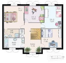 plan de maison 3 chambres salon charmant plan de maison 3 chambres salon 16 maison familiale 8