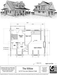 28 small cottage house plans with loft log home floor plans