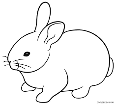 Printable Rabbit Coloring Pages For Kids Cool2bkids Rabbit Colouring Page