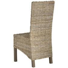 Wicker Rattan Dining Chairs Amazon Com Safavieh Home Collection Pembrooke Wicker Side Chairs