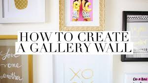 how to create a gallery wall easy diy home decor project youtube