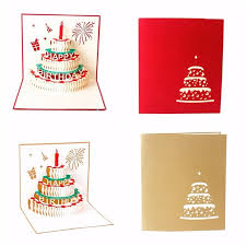 aliexpress buy newest 3d happy birthday card handmade paper