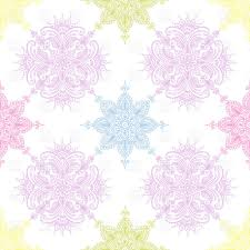 seamless pattern made of pastel ethnic ornaments vector clipart