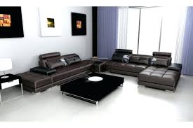 venezia leather sectional and ottoman leather sectional with ottoman sofa chocolate brown 2 storage