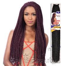 braids crochet freetress synthetic hair crochet braids medium box braid 24