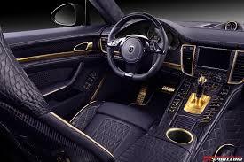 Porsche Panamera Interior - topcar porsche panamera stingray gtr with crocodile interior