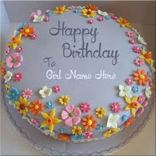 girls name on happy birthday cake picture online