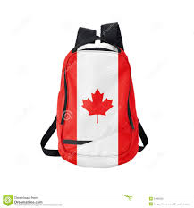 Canadian Flag Patch Canada Flag Backpack Isolated On White Stock Image Image 51966229